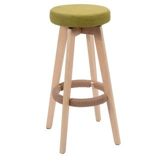 30 Inch Retro Modern Faux Leather Barstool Free Shipping