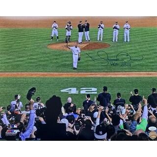 Mariano Rivera Signed New York Yankees Last Game 16x20 Photo HOF 2019 Insc JSA