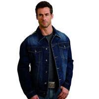 Stetson Western Jacket Mens Denim Logo Button Blue