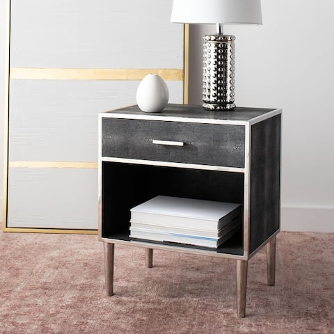 SAFAVIEH Couture Tammy 1-drawer Faux Shagreen Nightstand