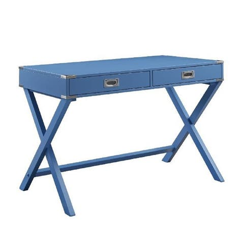 Q-Max Writing Desk With 2 Storage Drawers Particle Board MDF