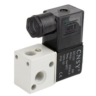 1/8 PT Two Position Three Way Pneumatic Pneumatic Electromagnetic Valve 12VDC 3W