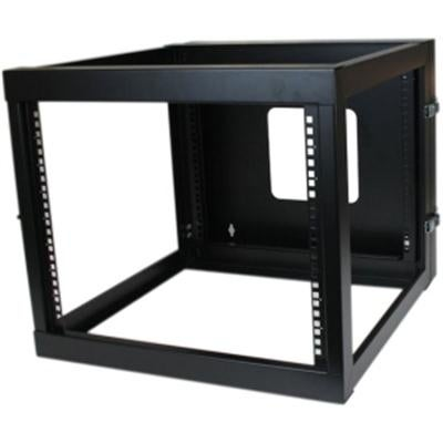 Startech 8U 22-Inch Hinged Open Frame Rack Cabinet Wallmount Server Rack Components Rk819walloh, Black
