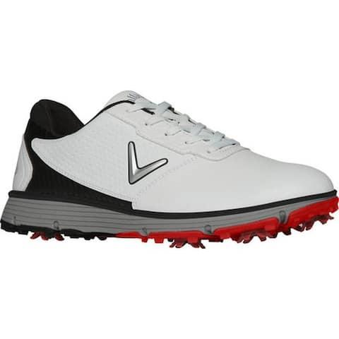 Callaway Men's Balboa TRX Waterproof Golf Shoe White/Black Microfiber