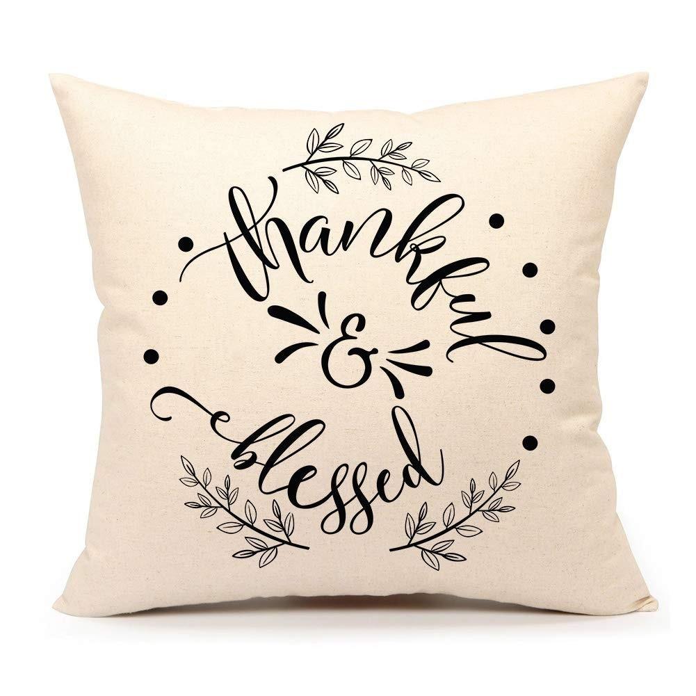 Thanksgiving Throw Pillow Cover