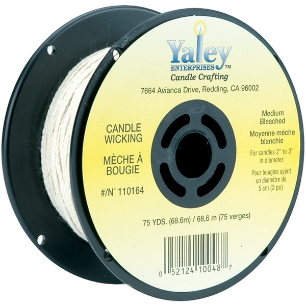 Candle Wicking Spool 75Yd-Medium Bleached