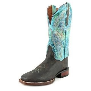 Dan Post Lad 11 Women Square Toe Leather Blue Western Boot