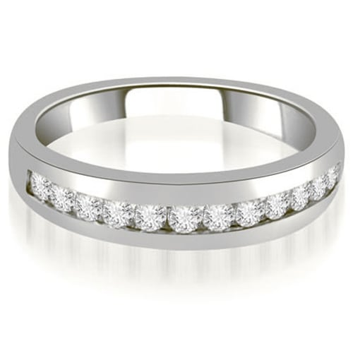 0.36 cttw. 14K White Gold Channel Set Round Cut Diamond Wedding Band