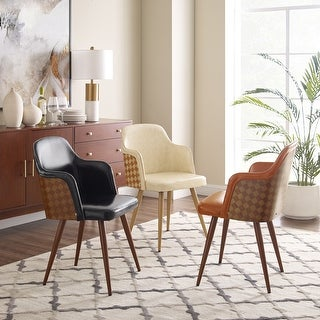 Link to Art-Leon Mid-Century Faux Leather Accent Arm Chair Similar Items in Accent Chairs