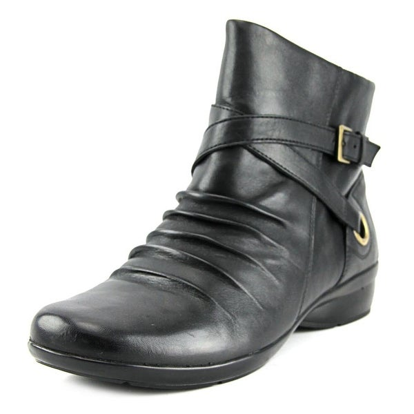 Naturalizer Cycle Women Round Toe Leather Black Ankle Boot