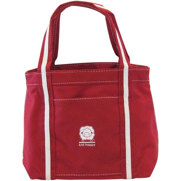"Knit Happy Take Along Tote 12.5""X5""-Red"