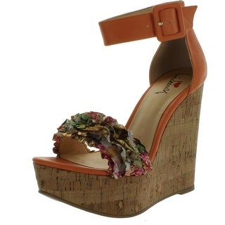 Luichiny Womens Flor Entine Wedge Sandals