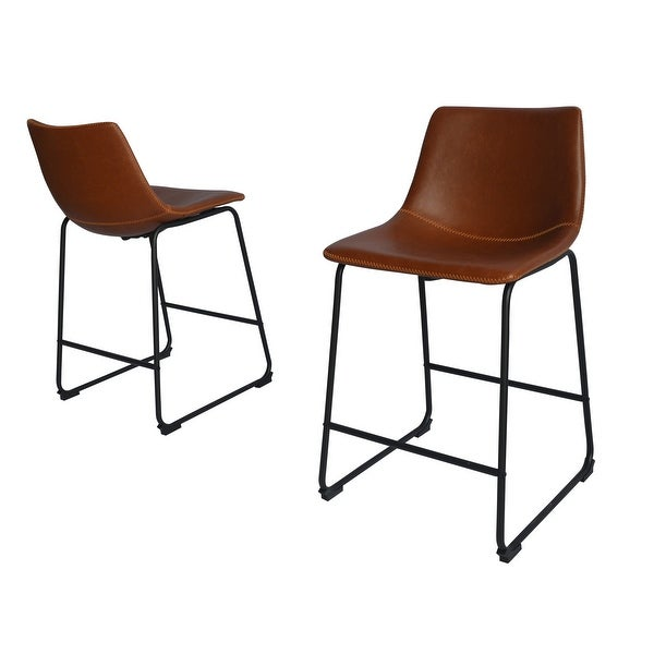 Best Quality Furniture 24-inch Faux Leather Counter Height Chairs. Opens flyout.