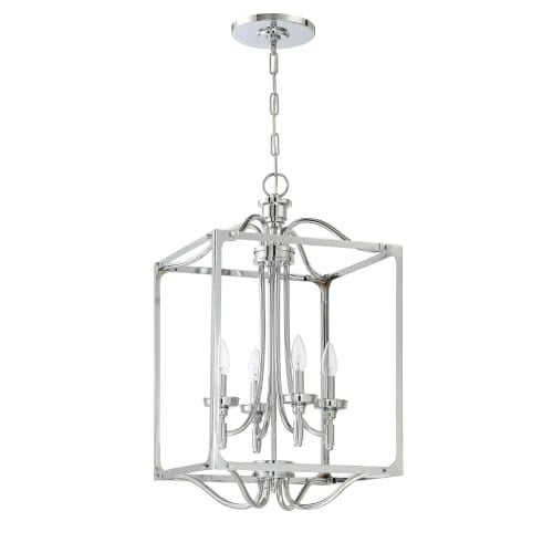 "Jeremiah Lighting 41434 Sophia 4 Light 15"" Wide Single Tier Cage Chandelier"