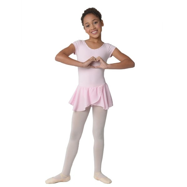 ebd9d7ddd9b5 Shop Danshuz Girls Pink Studded Tear Drop Back Cheer Dance Dress 6X ...