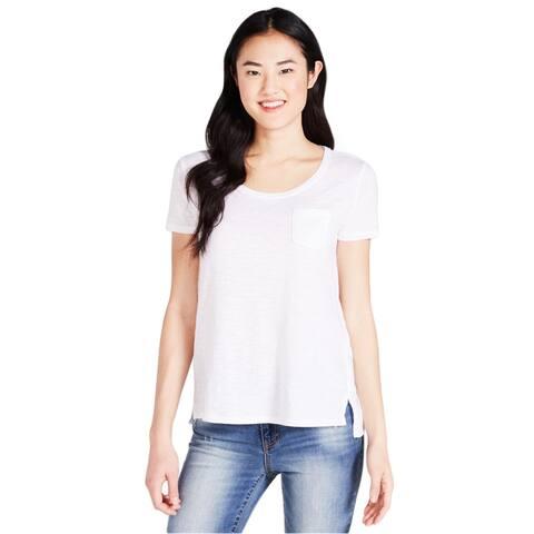 Aeropostale Womens Burnout Pocket Basic T-Shirt