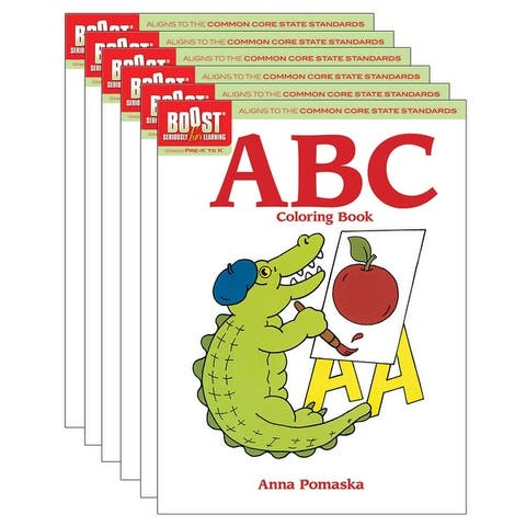 ABC Coloring Book, Pack of 6