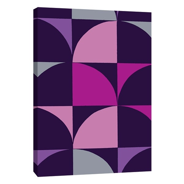 "PTM Images 9-108765 PTM Canvas Collection 10"" x 8"" - ""Monochrome Patterns 9 in Purple"" Giclee Abstract Art Print on Canvas"