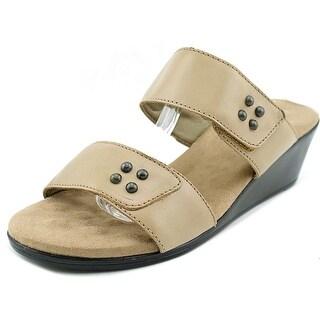 Walking Cradles Nick WW Open Toe Leather Slides Sandal