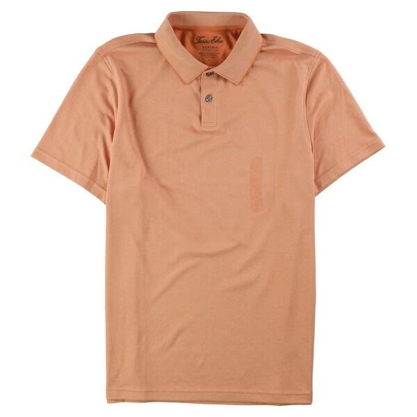 Tasso Elba Mens Ikat Print Rugby Polo Shirt