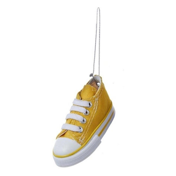 "3.5"" Yellow Low-Top Sneaker Decorative Christmas Ornament"