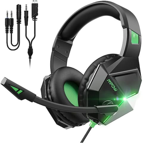 Mpow EG10 Gaming Headphones with Steoro Sound, PC PS4 Headset with Crystal Clear Mic, 50mm Speaker Drivers, Volume & Mute