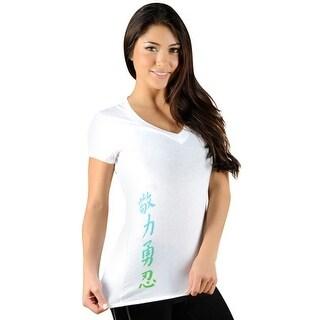 Jaco Women's Kanji Performance V Neck T-Shirt - White