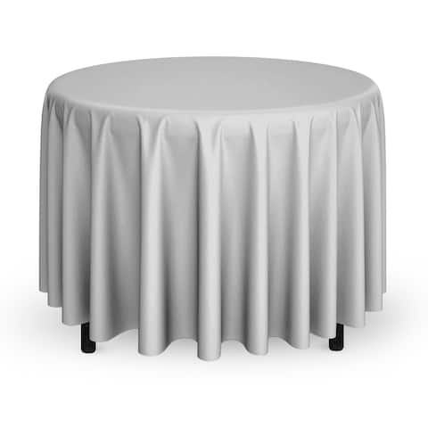 "1-Count 108"" Premium Round Tablecloth - Silver by Mill & Thread"