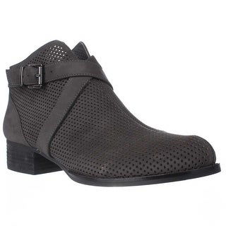 Vince Camuto Casha Perforated Ankle Booties, Battleship