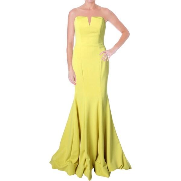 Jovani V-Neck Strapless Formal Dress