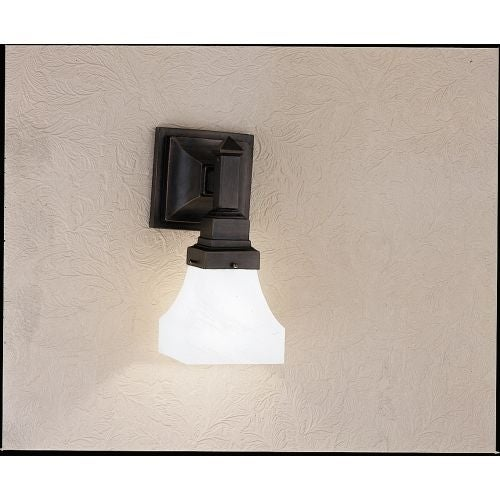 """Meyda Tiffany 27620 Country Bungalow 7"""" Wide Single Light Wall Sconce with Swirl Glass Shade"""