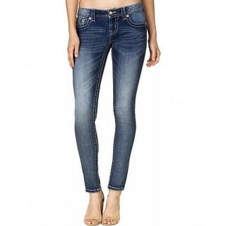 Miss Me Denim Jeans Womens Sequin Honey Comb Skinny Med JP7738S