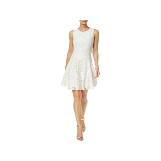 Tommy Hilfiger Womens Party Dress Floral Lace