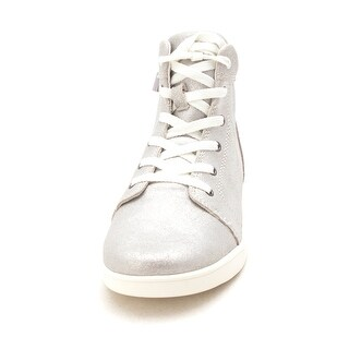 Kids Ugg Boys schyler Hight Top Lace Up Basketball Shoes - Silver - 5 us