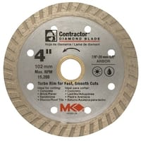 Mk Diamond 4in. Contractor Diamond Blade  167020