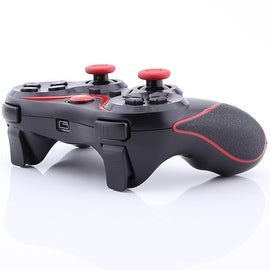 Wireless Bluetooth Game Controller for Sony PS3 Black + Red Stripe