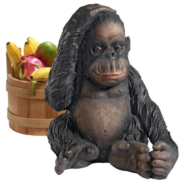 Design Toscano Curly the Chimpanzee of the Jungle Funny Monkey Statue