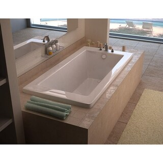 "Avano AV3272VNAL Bali 71-5/8"" Acrylic Air Bathtub for Drop-In Installations with Left Drain - White"