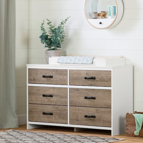 South Shore Hankel 6-Drawers Changing Table with Removable Top