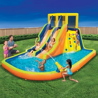 Link to Banzai Double Drench Outdoor Water Park with Double Slides Similar Items in Outdoor Play