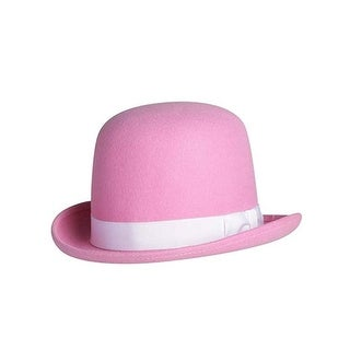 Pink Tall Derby Bowler Hat
