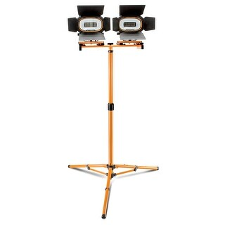 Mastergrip 3000 Lumen LED Twin Head Worklight With Tripod, Removable, Wall Mount