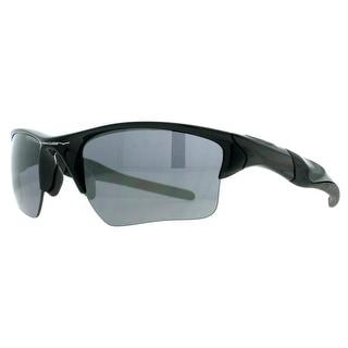 OAKLEY Sport Half Jacket 2.0 XL Men's OO9154-01 Polished Black Gray Sunglasses - 62mm-15mm-133mm