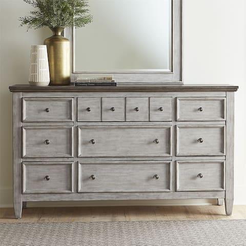 Heartland White and Tobacco 9-drawer Dresser