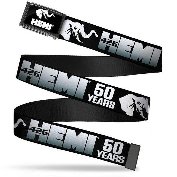 Hemi Elephant Logo Fcg Black White Chrome Hemi 426 Elephant Logo 50 Web Belt