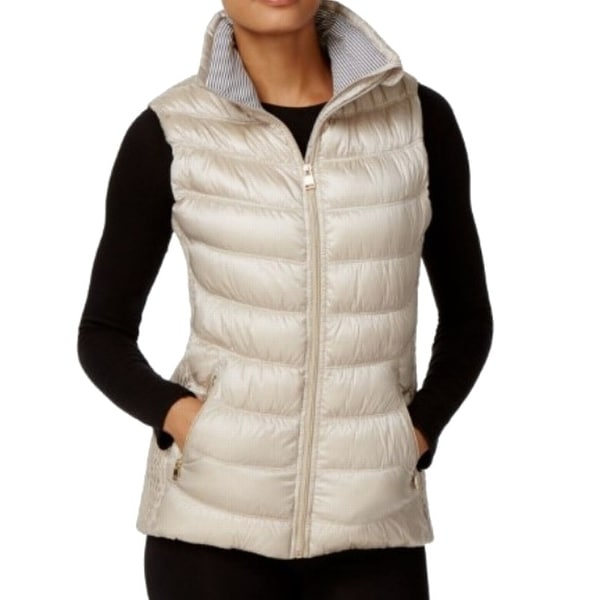 58efbe3f12d9 Shop Calvin Klein Performance NEW Gold Women Size Medium M Down Quilted  Vest - Free Shipping On Orders Over $45 - Overstock - 19817061