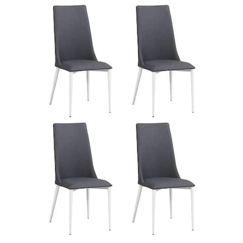 Somette Christy Curved-Back Side Chair, Set of 4