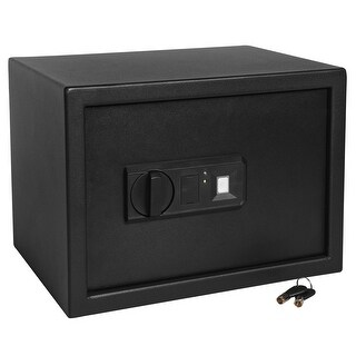 Ivation Home Safe Biometric Digital  9.8 x 13.7 x 9.8 Home Security Box With Fingerprint Lock, Backup Keys & Mounting Kit