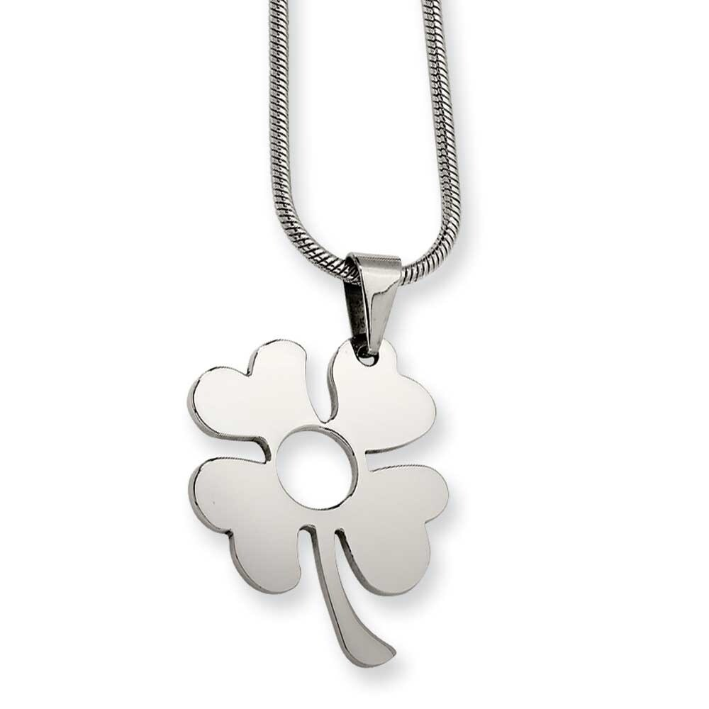 Leaf Pendant in stainless Steel P2 necklace pendant watch