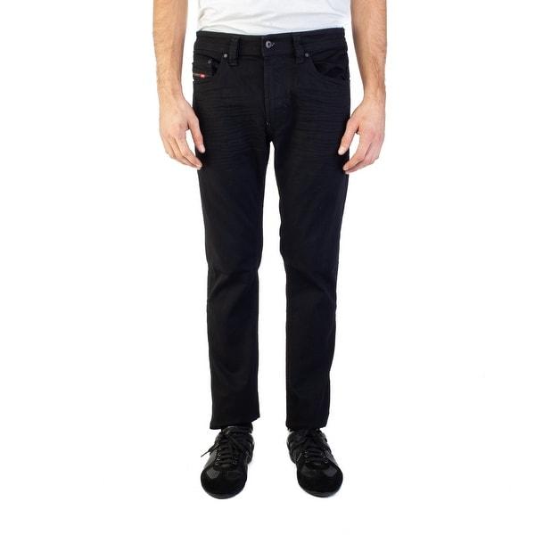 89e69eeaeaf Diesel Men  x27 s Slim-Skinny Fit Thavar 0R84A Stretch Jean Pants Black
